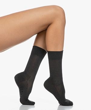 FALKE Sensitive Malaga Socks - Dark Grey Melange