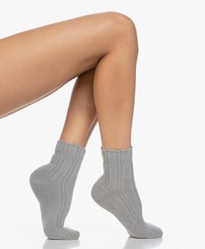 FALKE Ultra Soft Bed Socks - Grey