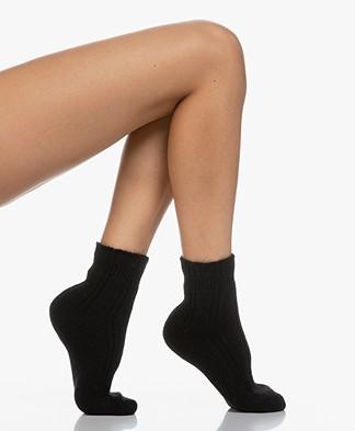 FALKE Ultra Soft Bed Socks - Black