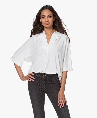 By Malene Birger Bijana Crêpe Jersey T-shirt - Soft White