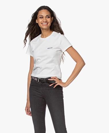 Denham Arrow Mini Logo T-shirt - Off-white/Zwart