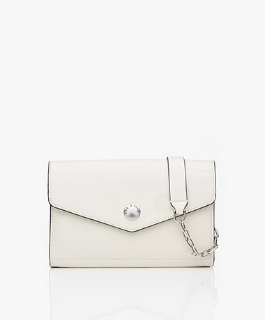 Rag & Bone Atlas Wallet On A Chain Tas - Antique White