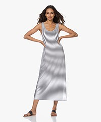 HANRO Laura Striped Jersey Maxi Dress - Dark Blue/White