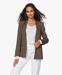 By Malene Birger Nivelle Getailleerde Open Blazer - Olive Night