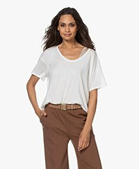 Rag & Bone The Gaia Pima Bio-katoenen T-shirt - Off-white