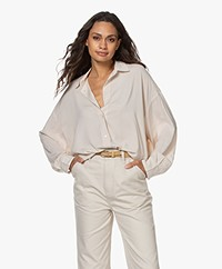 IRO Mix Oversized Stretch-Viscose Blouse - Mastic