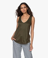 Drykorn Saimi Lyocell Jersey Tank Top - Army