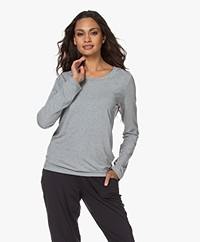 HANRO Modal Yoga Long Sleeve - Grit Melange