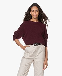 IRO Moya Oversized Merino Blend Sweater - Plum
