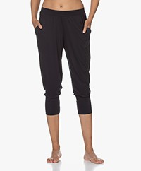 HANRO Yoga Cropped Modal Jersey Pants - Black