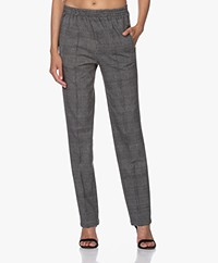 Rag & Bone Rylie Checkered Jersey Pants - Grey