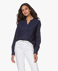 Closed Blanche Bio Cotton Poplin Blouse - Dark Night