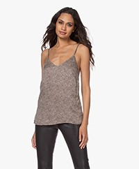 Plein Publique Le Sage Viscose Printed Top - Panther