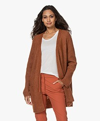 By Malene Birger Ursula Open Alpaca Blend Cardigan - Brick