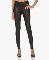 By Malene Birger Elenasoo Leather Leggings - Black