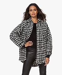 IRO Restrain Houndstooth Bouclé Jacket - Black/Off-white