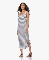 HANRO Laura Striped Jersey Maxi Dress - Dark Blue/White