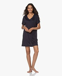 HANRO Laura Modal Blend Jersey Nightshirt - Midnight