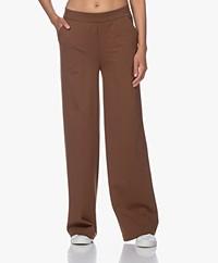 LaSalle Ponte Jersey Wide Leg Sweatpants - Tobacco