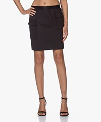 Wolford Blair Tech Jersey Utility Skirt - Black