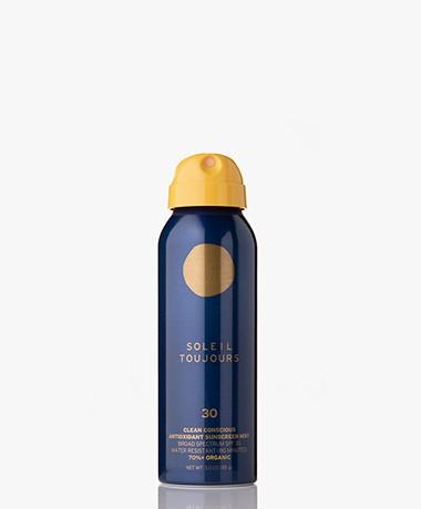 Soleil Toujours Clean Conscious Antioxidant SPF 30 Zonnebrand Spray - Travel Size