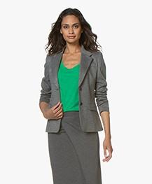 Drykorn Boulder Ponte Jersey Blazer - Grey Melange