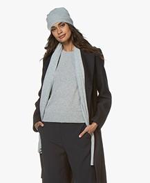 Repeat Luxury Cashmere Beanie - Light Grey Melange