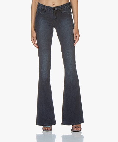 Denham Farrah Flare Fit Jeans - Blauw