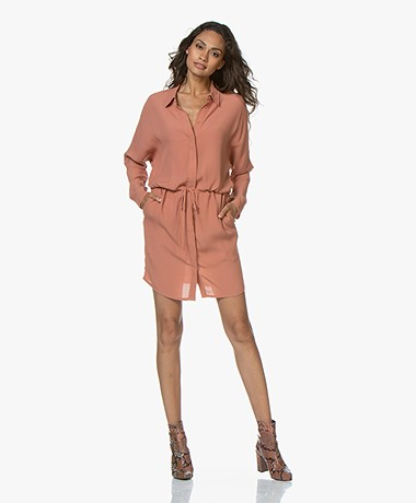 Marie Sixtine Marou Viscose Crepe Shirt Dress - Rotin