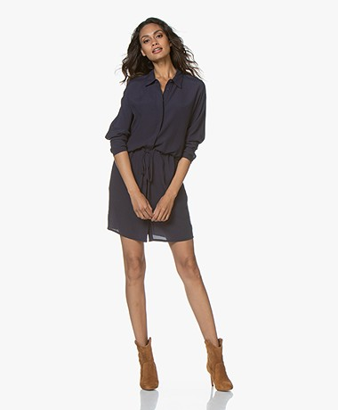 Marie Sixtine Marou Viscose Crepe Shirt Dress - Sailor
