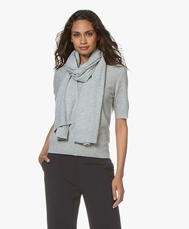 Repeat Luxury Cashmere Scarf - Light Grey Melange