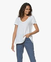 American Vintage Kobibay V-neck T-shirt - White