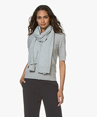 Repeat Luxury Cashmere Scarf - Light Grey Melange