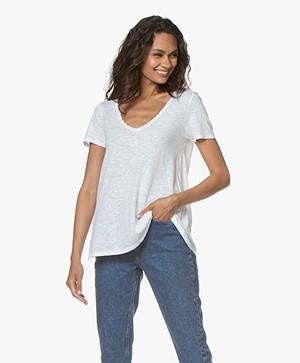 American Vintage Kobibay V-hals T-shirt - Wit