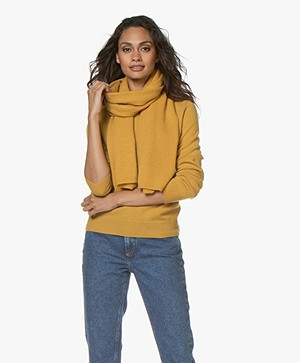Repeat Cashmere Scarf - Curry