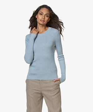 Filippa K Billy Sweater - Frosty Blue