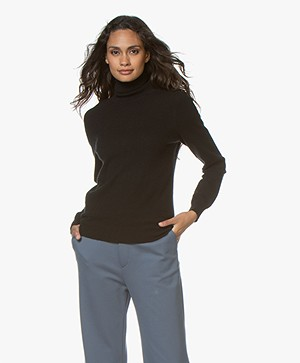 Repeat Cashmere Fine Knitted Turtleneck Pullover - Black