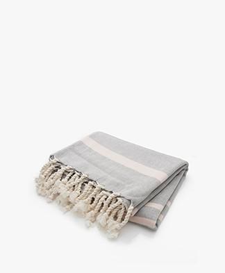 Filippa K Soft Sport Beach Towel - Grey/Pale Pink
