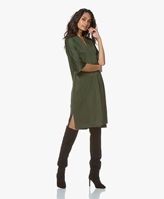 By Malene Birger Bijou Viscose Jersey Dress - Tent Green