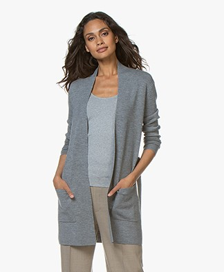 Filippa K Belted Mid Vest - Medium Grijs Mêlee