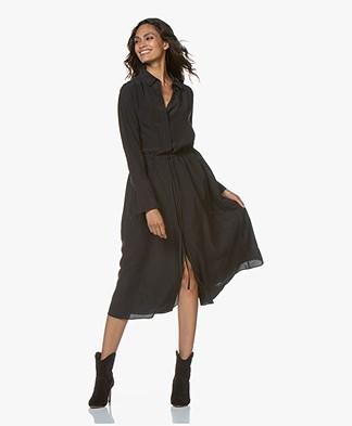 Joseph Evie Washed Silk Shirt Dress - Black