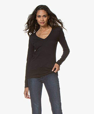 Majestic Filatures Carole Cashmere Blend Long Sleeve - Marine