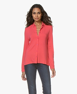 Majestic Filatures Viscose Jersey Blouse - Groseille