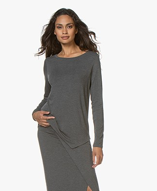 Majestic Filatures Asymmetric Long Sleeve - Flanelle