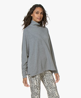 Majestic Filatures Turtleneck Sweater - Grey Melange