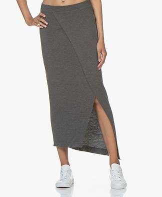 Majestic Filatures Soft Touch Jersey Skirt - Flanelle