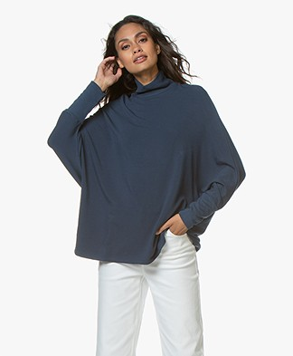 Majestic Filatures Turtleneck Sweater - Bleu nuit