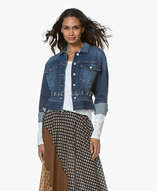 Closed Baha Cropped Denim Jacket - Mid Blue