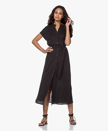 Plein Publique La Calme Button-through Dress - Black