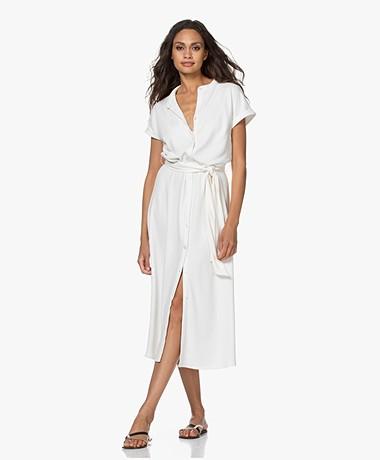 Plein Publique La Calme Button-through Dress - Ivory